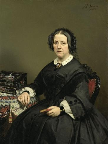 Wilhelmina Margaretha Van Den Bosch. Echtgenote Van Gerard Johan Verloren Van Themaat Art Print
