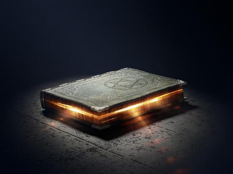 Magic Book with Super Powers - 3D Artwork Art Print