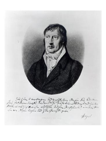 Georg Wilhelm Friedrich Hegel, Engraved by F.W Bollinger, C.1825 Giclee Print