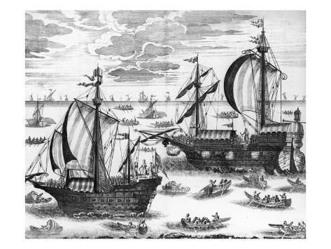 Russian Navy, c1700 Stretched Canvas Print