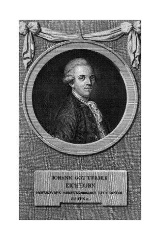 Johann Gottfr. Eichhorn Stampa giclée