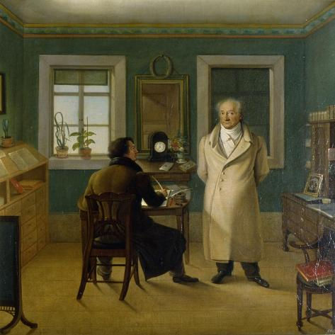 Goethe Dictating to His Clerk John, 1834 Giclee Print