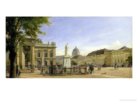 New Guardshouse, Arsenal, Prince's Palace and Castle in Berlin, 1849 Giclee Print