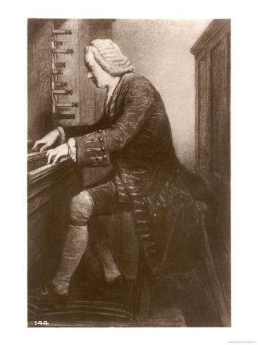 Johann Sebastian Bach German Organist and Composer at the Keyboard Giclee Print