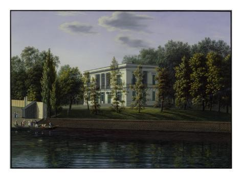 The New Pavilion in the Gardens of Charlottenburg Palace, C.1824-25 Giclee Print