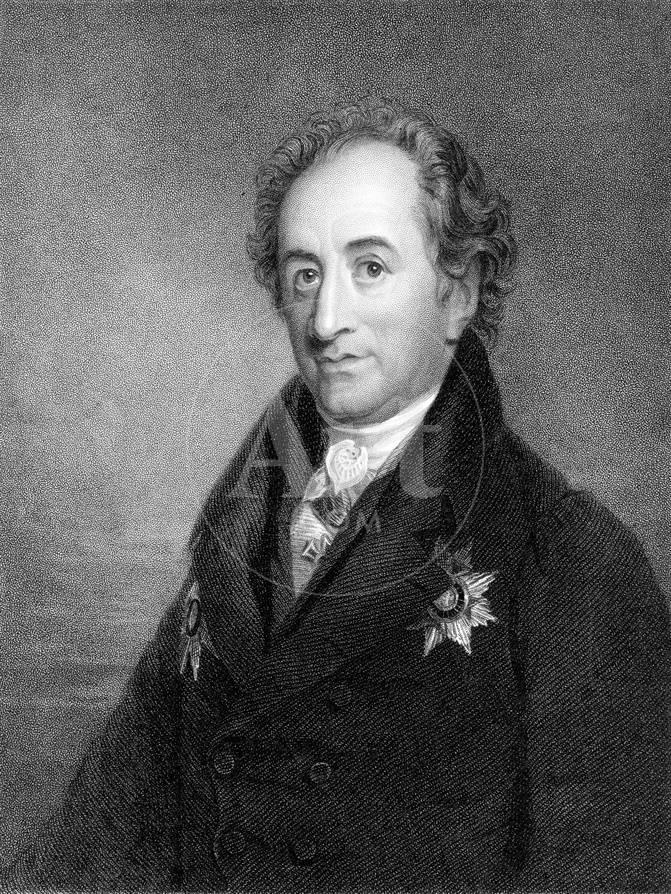 Johann Wolfgang Von Goethe German Poet Dramatist And Scientist C1830