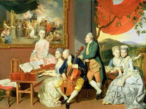 George, 3rd Earl Cowper, with the Family of Charles Gore, c.1775 Giclee Print