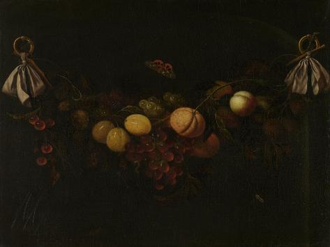 Festoon of Fruits Art Print