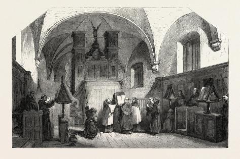 Monks of St. Francis Singing a Te Deum, 1855 Lámina giclée