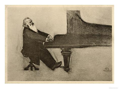Johannes Brahms German Musician Giclee Print