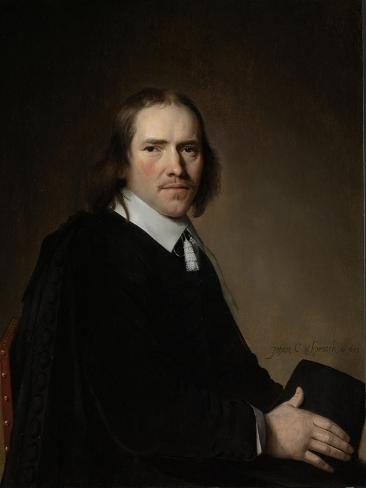 Portrait of Dirck, Johannes or Jacobus Wallis Art Print