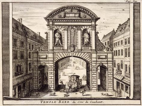Temple Bar, London, C1700 Giclee Print