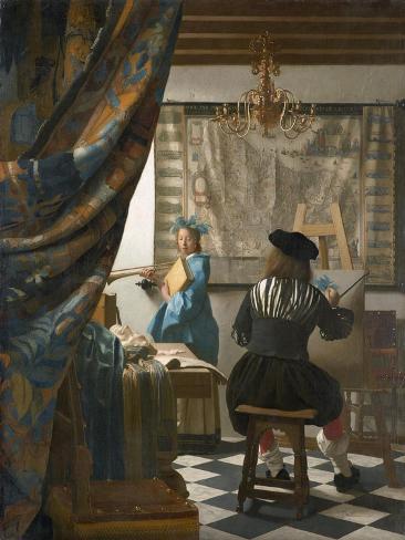 The Artist's Studio, C.1665-66 Lámina giclée