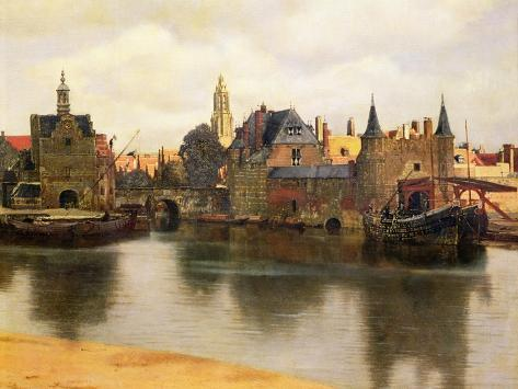 View of Delft, c.1660-61 Lámina giclée
