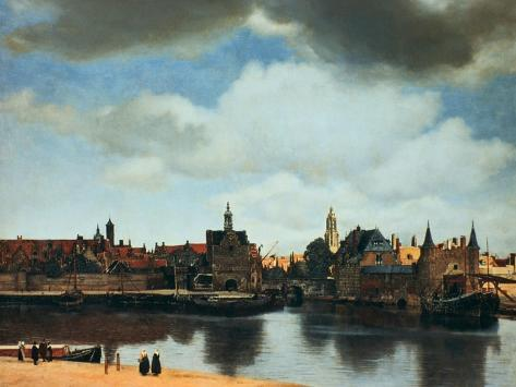 View of Delft, Netherlands, after the Fire, C1658 Premium Giclee Print