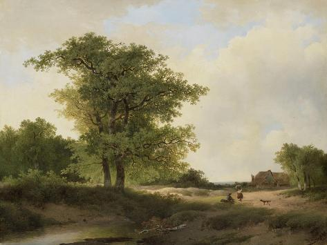 Landscape with Farmstead Premium Giclee Print