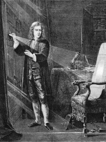 Newton Investigating Light, C1879 Giclee Print