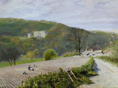 Barden Tower of the River Wharfe, Yorkshire, 1868 Lámina giclée
