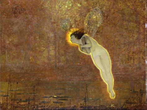 Iris (Her Autumnal Errand: Third Reading) Lámina giclée