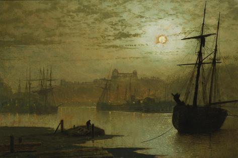 On the Esk, Whitby, 1877 Lámina giclée