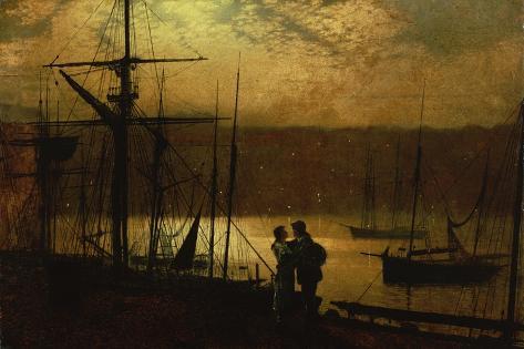 Outward Bound - a View of Whitby, 1887 Lámina giclée