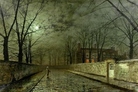 Silver Moonlight, 1880 Lámina giclée
