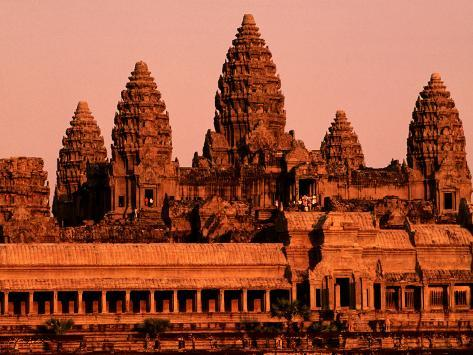 Sunrise over the Ancient Site of Angkor Wat Photographic Print
