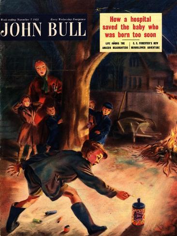 John Bull, Guy Fawkes Fireworks Magazine, UK, 1953 Giclee Print