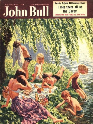 John Bull, Picnics Magazine, UK, 1951 Giclee Print
