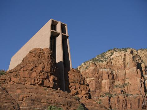 Chapel of the Holy Cross Church on a Cliff in Sedona, Arizona Photographic Print