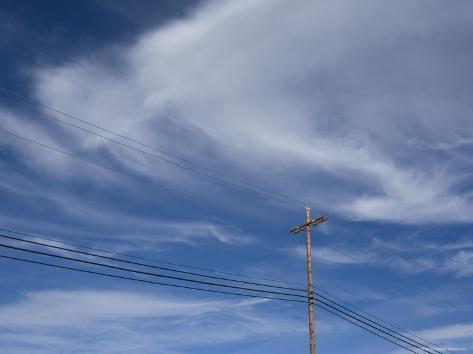 Power Line against the Sky, California Photographic Print