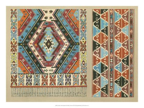 Turkish Carpet Design Giclee Print