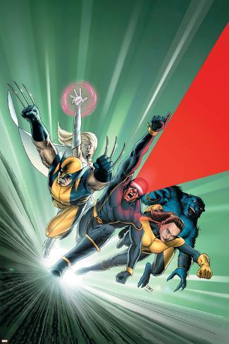 Astonishing X-Men No.1 Cover: Cyclops, Shadowcat, Beast, Wolverine, Emma Frost and X-Men Poster
