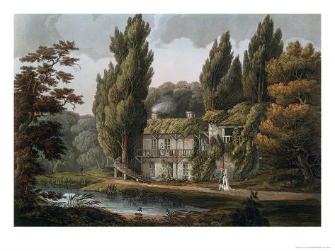 Dining Room, Hameau of Marie-Antoinette, Versailles, Paris and Saint Denis, Pub.London 1809 Giclee Print