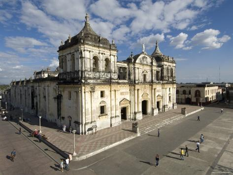 Cathedral of Leon, Basilica de Asuncion, Leon, Nicaragua Photographic Print