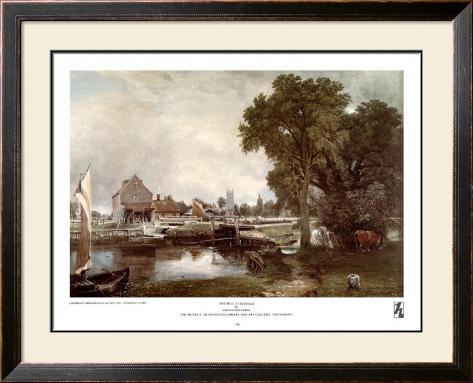 Mill at Dedham Framed Art Print