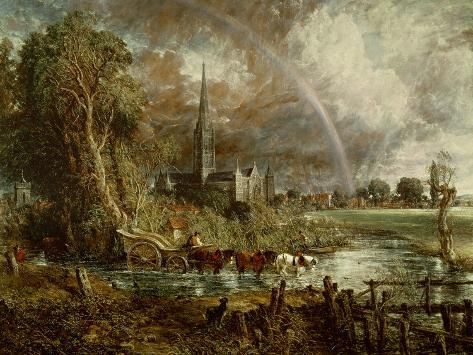 Salisbury Cathedral from the Meadows, 1831 Giclee Print