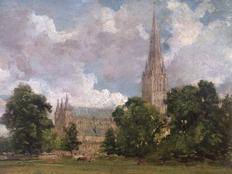 Salisbury Cathedral from the South West Giclee Print
