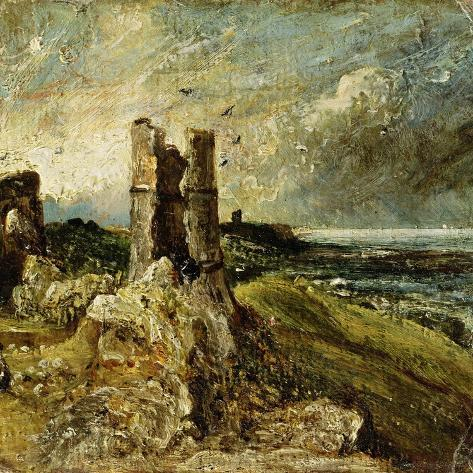 Sketch of Hadleigh Castle (Recto) (Oil on Millboard) Giclee Print