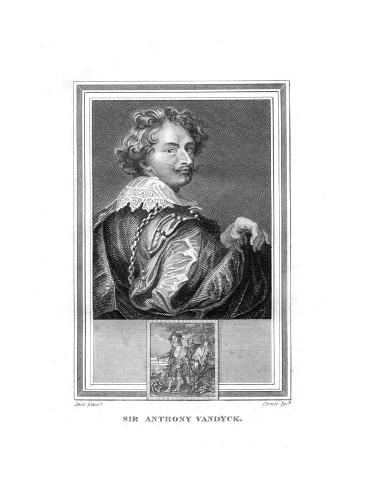 Sir Anthony (Anto) Van Dyck, (1599-164), Flemish Painter, 1825 Giclee Print