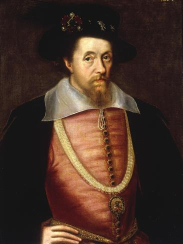A Portrait of James I of England, VI of Scottland Lámina giclée