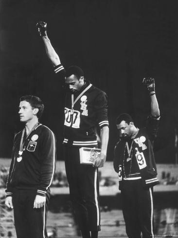 Black Power Salute, 1968 Mexico City Olympics Premium Photographic Print