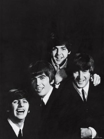 Ringo Starr, George Harrison, Paul McCartney and John Lennon of the English Rock Group the Beatles Premium Photographic Print