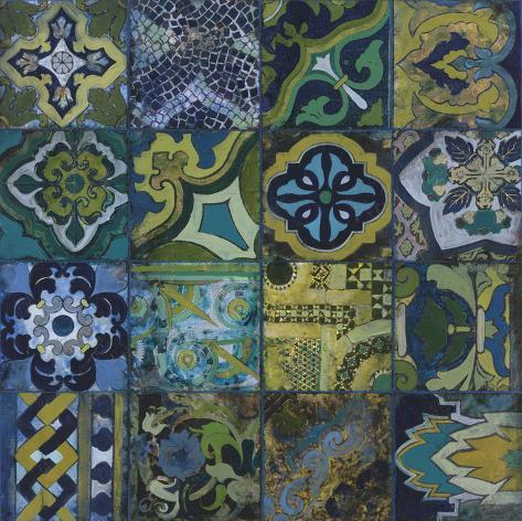 Cobalt Mosaic II Art Print