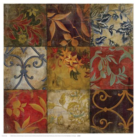 Floral Mosaic V Stampa artistica