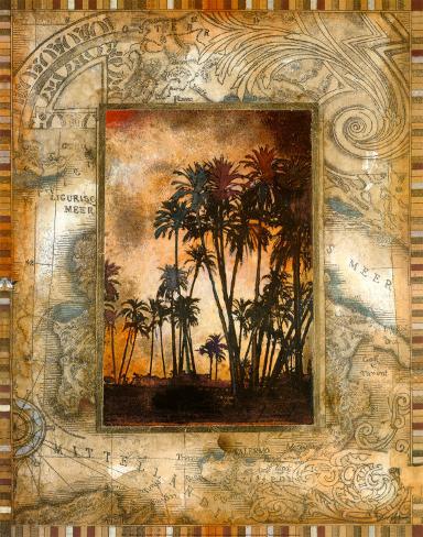 Tahitian Sunset II Art Print