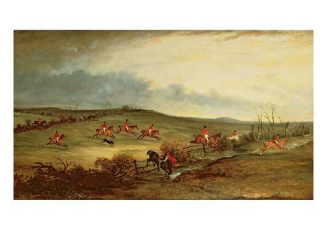 The Quorn in Full Cry Near Tiptoe Hill Giclee Print