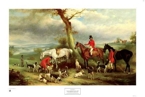 Thomas Wilkinson with the Hurworth Art Print