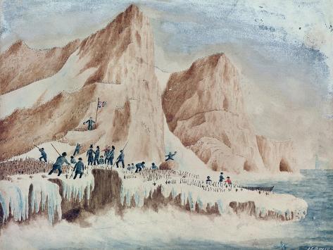 Possession Island, Victoria Land, 11th January 1841 Lámina giclée
