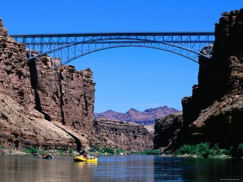 Highway 89A Bridge, Colorado River, Grand Canyon National Park, Arizona Photographic Print